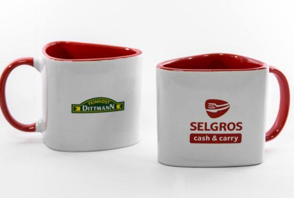 Selgros - Tasse in Sonderform