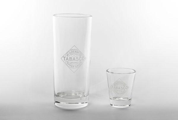 Tabasco - Longdrinkglas & Shotglas