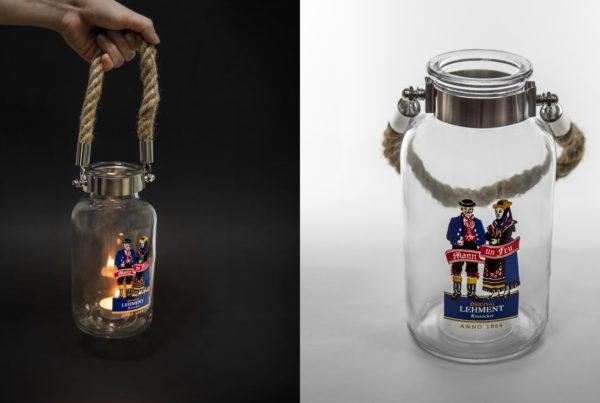 Glass lantern Light Rope Sling Tealight torch Nordsee Kümmel Rohstocker Candle candlelight flame Sand