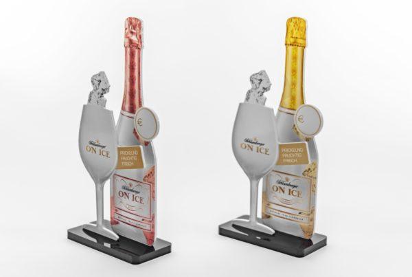 Schlumberger On Ice - Menucardholder Sekt Secco Menukartenhalter Kartenhalter Menu Holder Sparkling Wine Sekt Champus Champagner